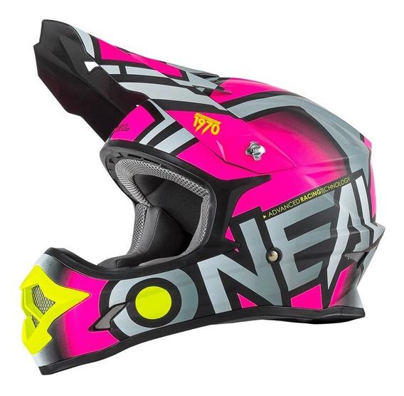 Casco Oneal 3 Series Motocross Enduro Mtb Mujer Radium Rosa