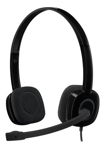 Fone de ouvido Logitech H151 preto