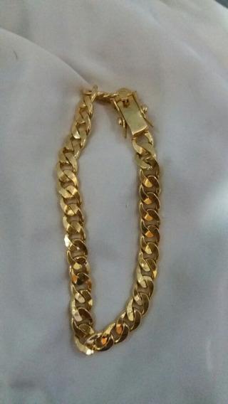 Pulseira De Prata 950 Maciça Banhada A Ouro 18k