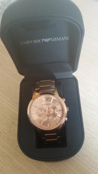 Relógio Luxo Empório Armani Ar2452 Original Analogico