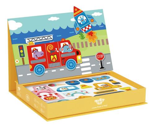 Imagen 1 de 5 de Juego Magnetic Box-transportes Puzzle