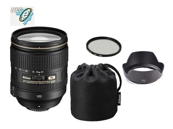 Lente Nikon 24-120mm F/4g Ed Af-s Vr + Uv 77mm Nota Fiscal