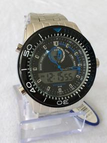 Relógio Masculino Prateado Atlantis G-3324 Original.