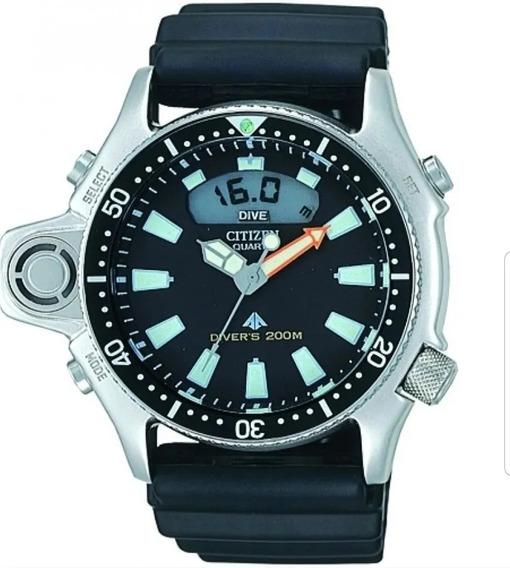 Relógio Citizen Aqualand Jp2000-08e Tz10137t Novo P/mergulho