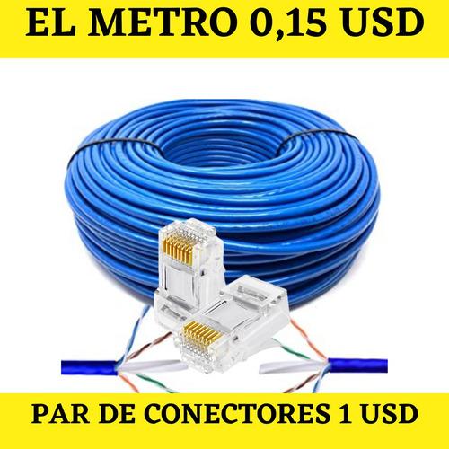Cable De Red Internet Utp Conexiones Lan Cat 5e