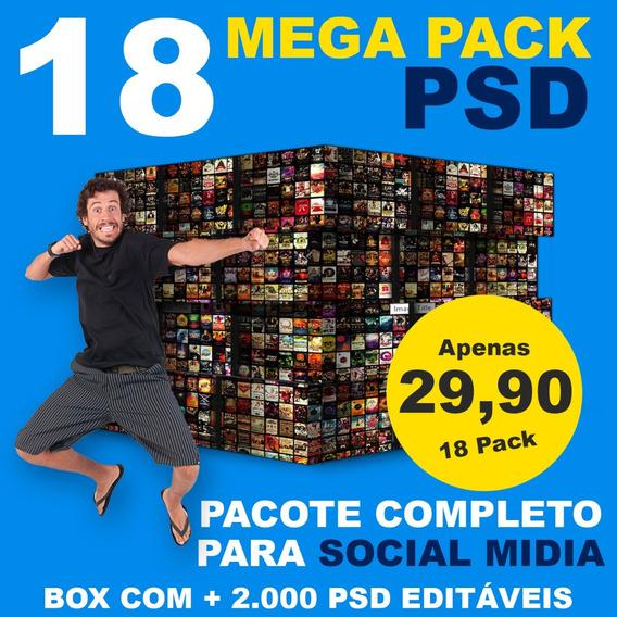 Pack 2000 Artes Instagram Facebook Editáveis Psd + Bônus