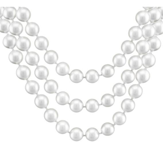 Colar Barbara Strauss Veneza Em Pérola Produzida Branca