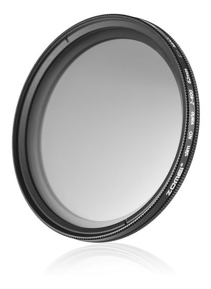Zomei 62mm Ultra Slim Fader Varivel Nd2-400 Nd Neutro
