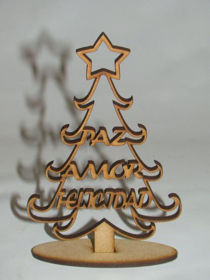 Mini Arbolito Navidad Fibrofacil Souvenir X10 Unidades