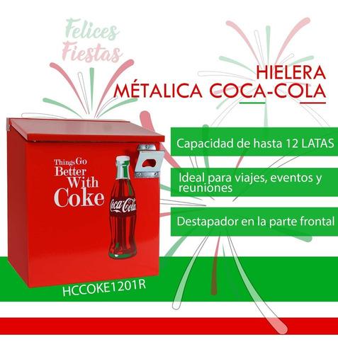 Imagen 1 de 7 de Hielera Metálica Coca-cola Dace Hccoke1201r