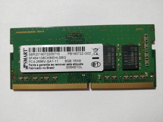 Memória Ram Ddr4 De 8gb De 2666mhz Smart Para Notebooks