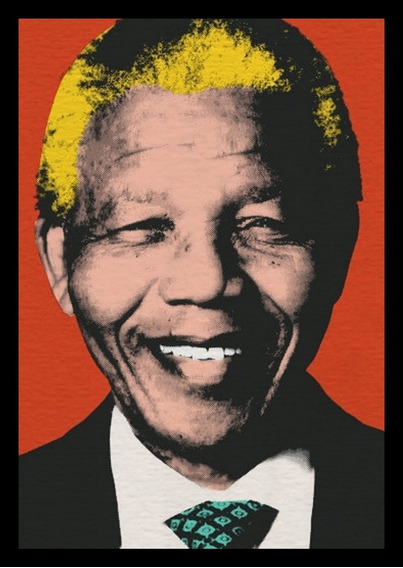 Quadro Decorativo Nelson Mandela Arte 42x29cm