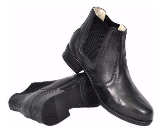 Bota Feminina Montaria Chelsea Boots Cano Curto