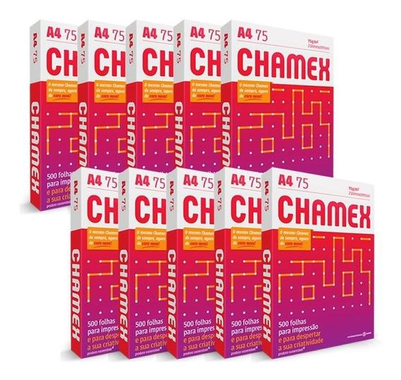 Papel A4 Chamex Office 75g Com 500 Fls / Caixa Com 10 Resmas