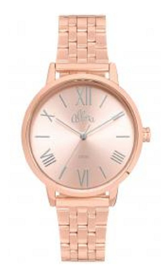 Relógio Feminino Allora Analógico Al2035fns/k4d - Rose Gold