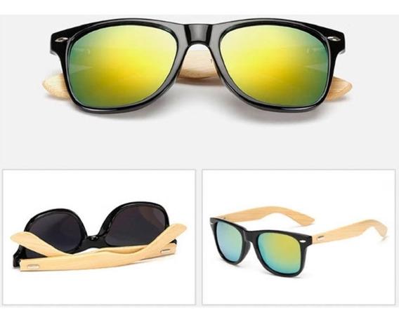 Óculos De Solmadeira Hastes Bambo Unissex Promoção