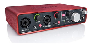 Placa De Audio Focusrite Scarlett 2i4