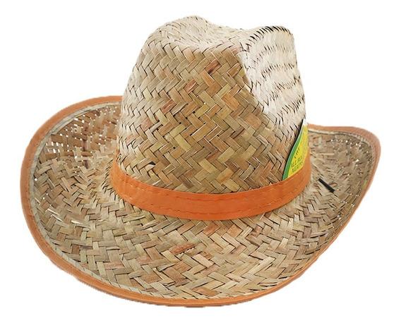 Sombrero De Paja Estilo Cowboy Adultos Unisex Art. 20170003