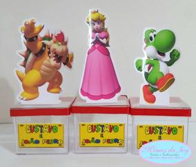 Kit Mario Bross 150unid.tubete Latinha Garrafa