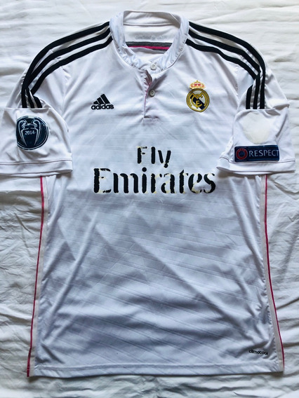 Camisa Real Madrid 2014/15 adidas- #10 James Patch Champions