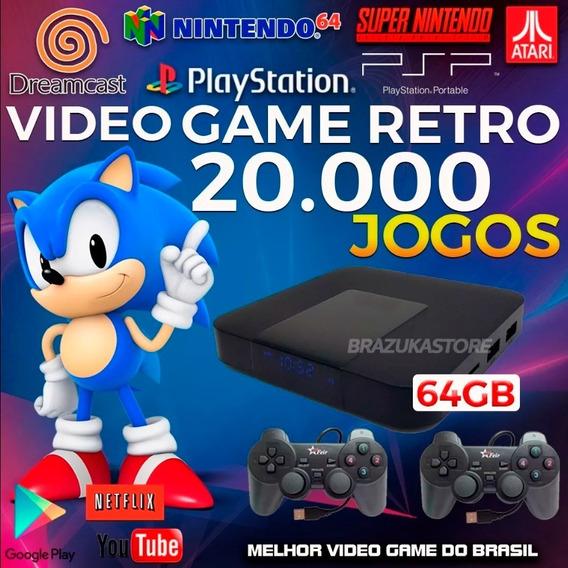 Retro Box - Video Game Retro Com 20.000 Jogos Antigos 64gb