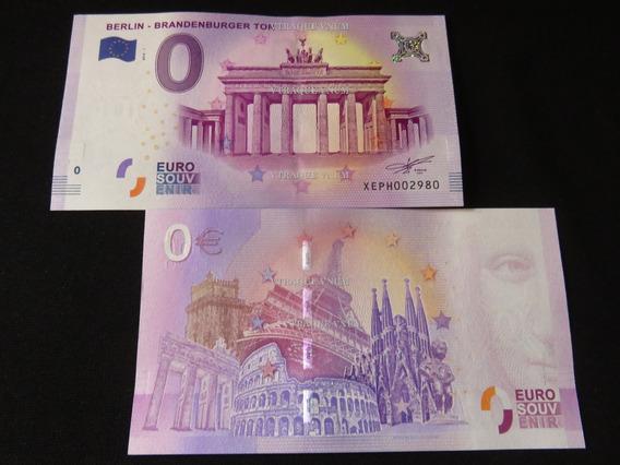 #122 Billete 0 Euro Puerta De Brandeburgo Berlin Alemania