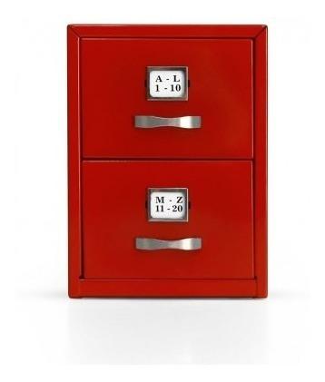 Mini Fichero De Metal Ideal Para Organizar El Escritorio