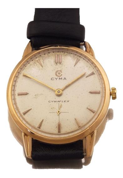 Relógio De Pulso Unissex Cyma Flex Em Ouro Rose 18k 750 Com 17 Gemas Rubis Frete Grátis J10163