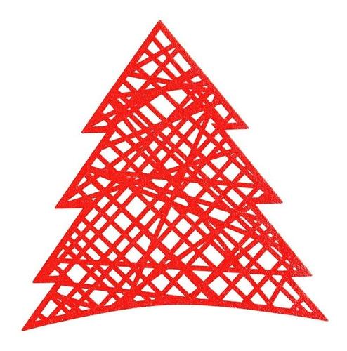Imagen 1 de 3 de Juego De 4 Manteles Individuales Navidad Noche Buena Vianney