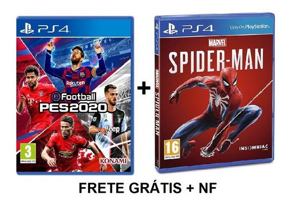 Efootball Pes 2020 +spider Man Homem Aranha Lacrado Ps4 + Nf