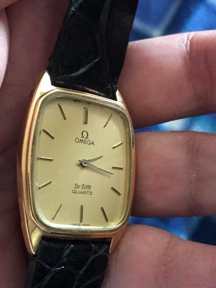 Reloj Omega De Ville Oro Laminado Ultra Plano