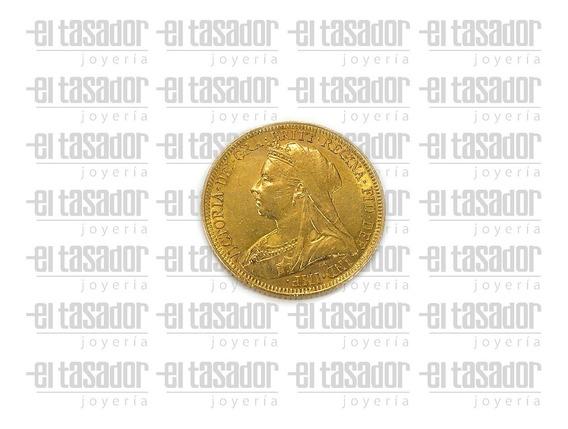 Moneda Libra Esterlina De Oro 22 K *joyeriaeltasador*