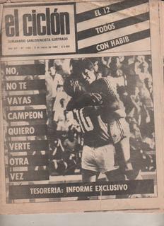Antigua Revista * El Ciclon * San Lorenzo Nº 1160 Año 1982