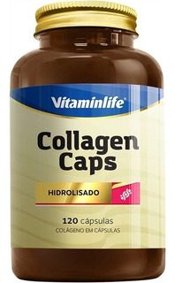 Colágeno Collagen Caps - 120 Cápsulas - Vitamin Life