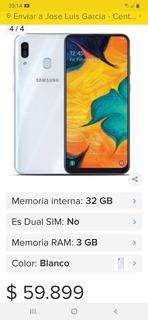 Celular Samsung Galaxy A30 32gigas 3g Ram Blanco