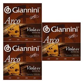 3 Encordoamento Giannini Para Viola De Arco 4/4 Geavoa
