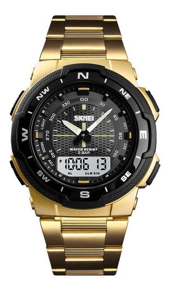 Skmei 1370 Relógio De Quartzo De Aço Inoxidável 50m Water