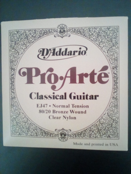 Juego De Cuerdas Pro-arte Daddario Para Guitarra Acústica