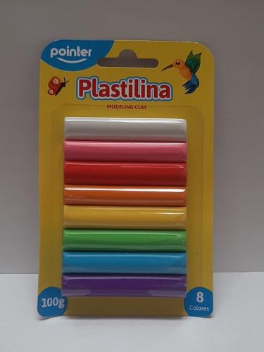 Plastilina 8 Colores Pointer Venta X 6 Unidades
