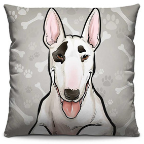 Almofada Estampada Colorida Pets Bull Terrier 290