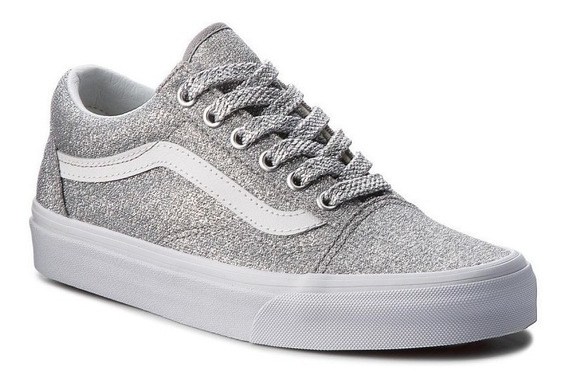 Tenis Vans Old Skool Lurex Glitter Mujer Brillante Authentic