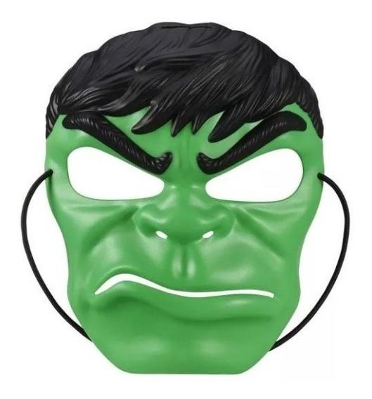 Mascara Super Heroes Spiderman Hulk Cap America Ironman Has