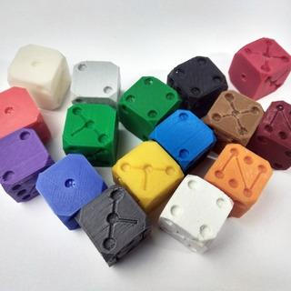 Dados Cubos P/ Jogos De Tabuleiro Ludo Jogo Vida - 05 Pçs