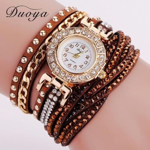 Relógio Feminino C43 Barato Strass Pulseira Bracelete Brinde