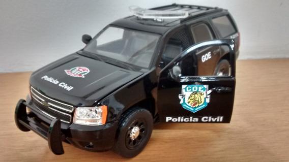 Chevy Tahoe 1/24 Viatura Goe Polícia Civil Sp Luzes E Sirene