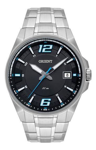 Relógio Orient Masculino Analogico Mbss1345 Prata