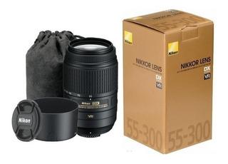 Lente Nikon Af-s Dx 55-300mm F/4.5-5.6g Vr +parasol