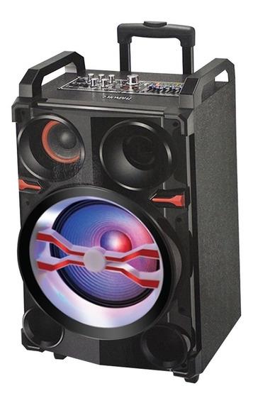 Caixa De Som Amplificada Mondial 300w Cm-13b Preta - Bivolt