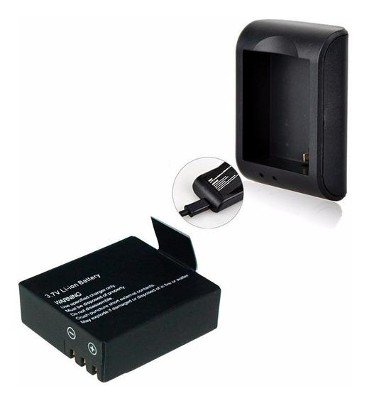 Carregador + Bateria Extra Camera Sj4000 Sports Cam Similar
