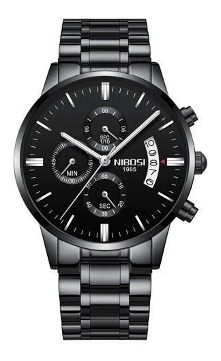 Relógio Nibosi Original + Pulseira Prata Promoção